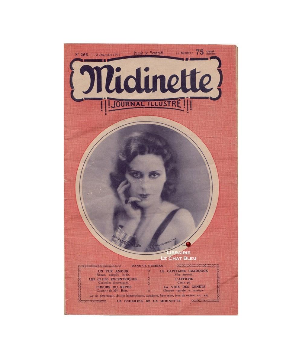 Midinette n° 266 du 18 décembre 1931 - Melle Renée Veller en couverture