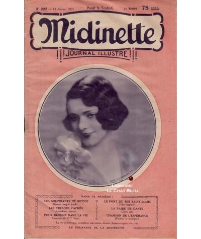 Journal illustré Midinette n° 222 du 13 février 1931 - Melle Paul Pitot en couverture