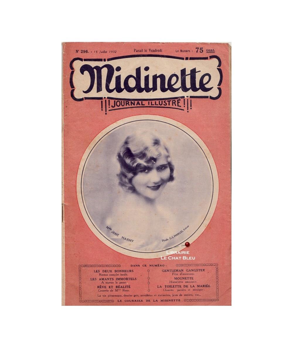 Midinette n° 296 du 15 juillet 1932 - Melle Jane Marny en couverture