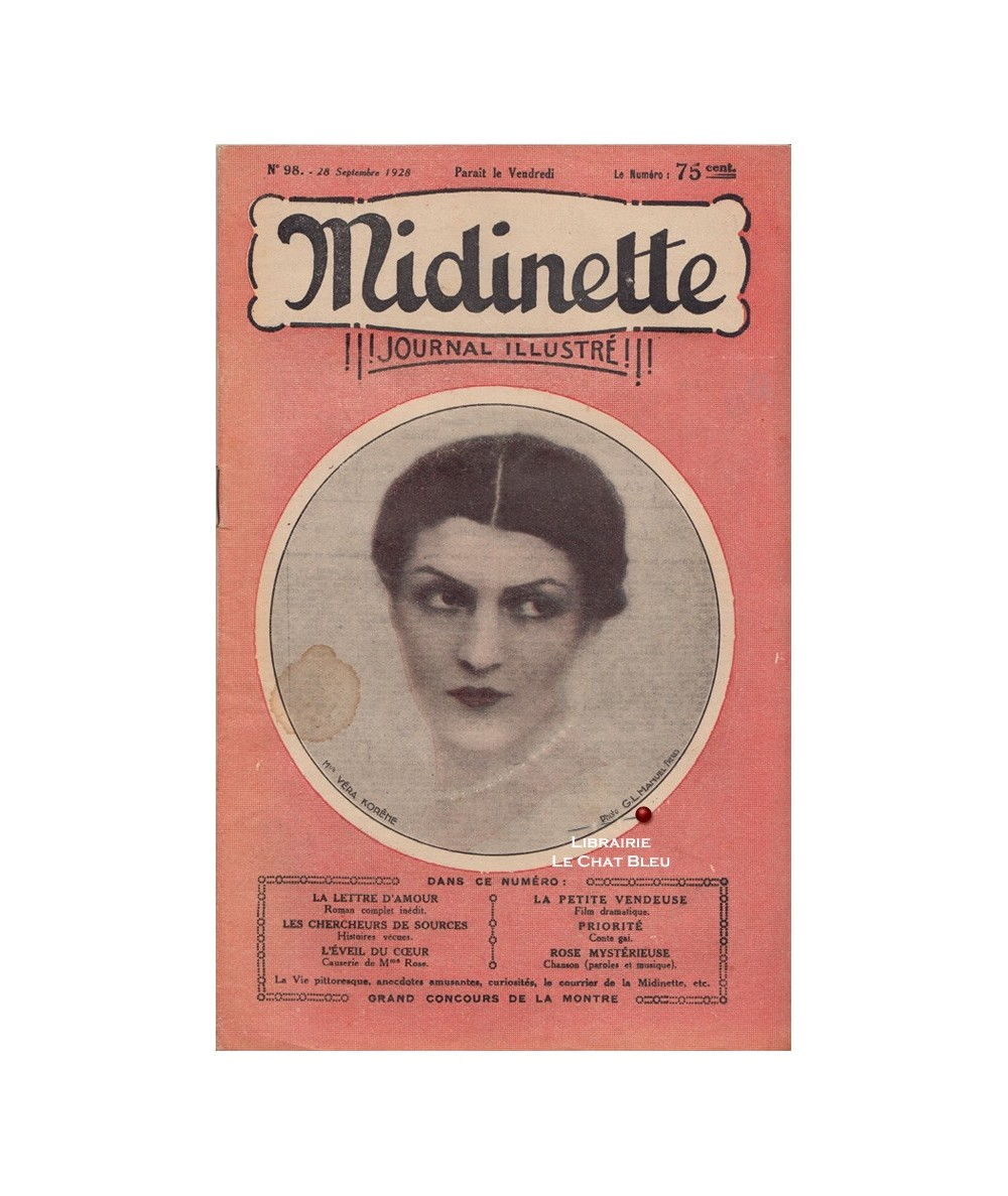 Midinette n° 98 du 28 septembre 1928 - Melle Véra Korêne en couverture