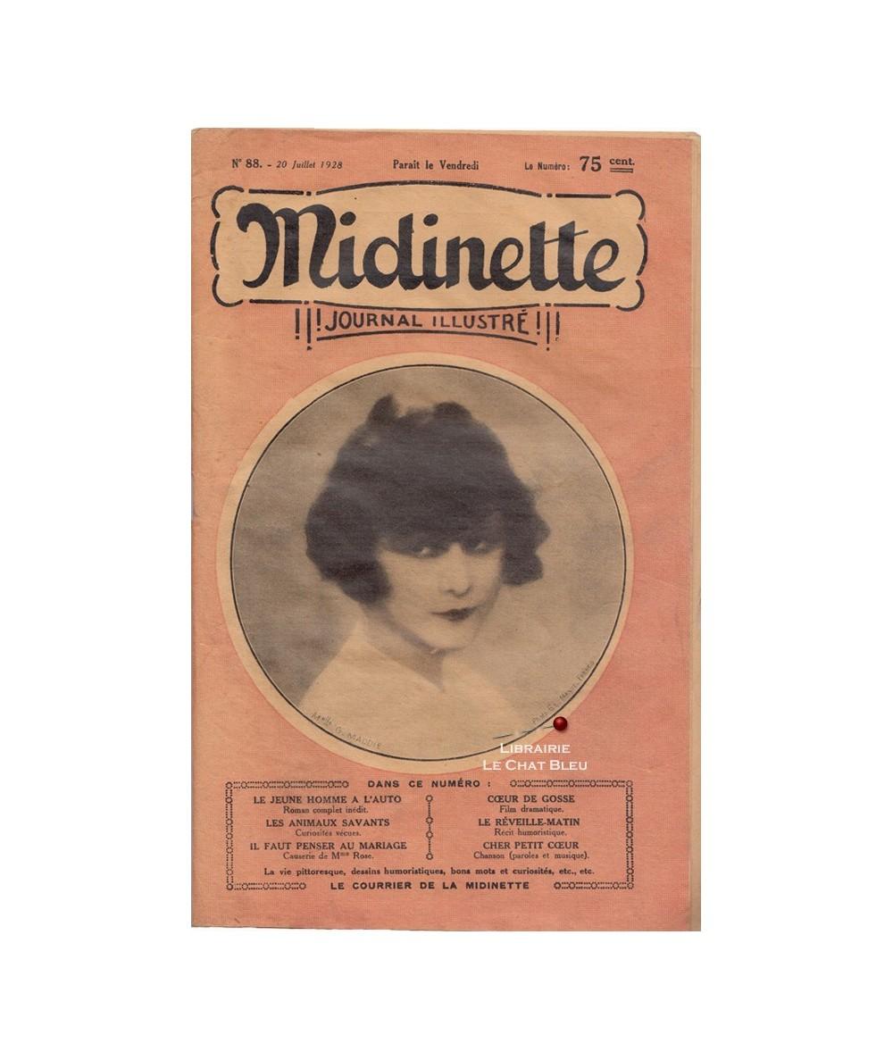 Midinette n° 88 du 20 juillet 1928 - Melle G. Maddie en couverture
