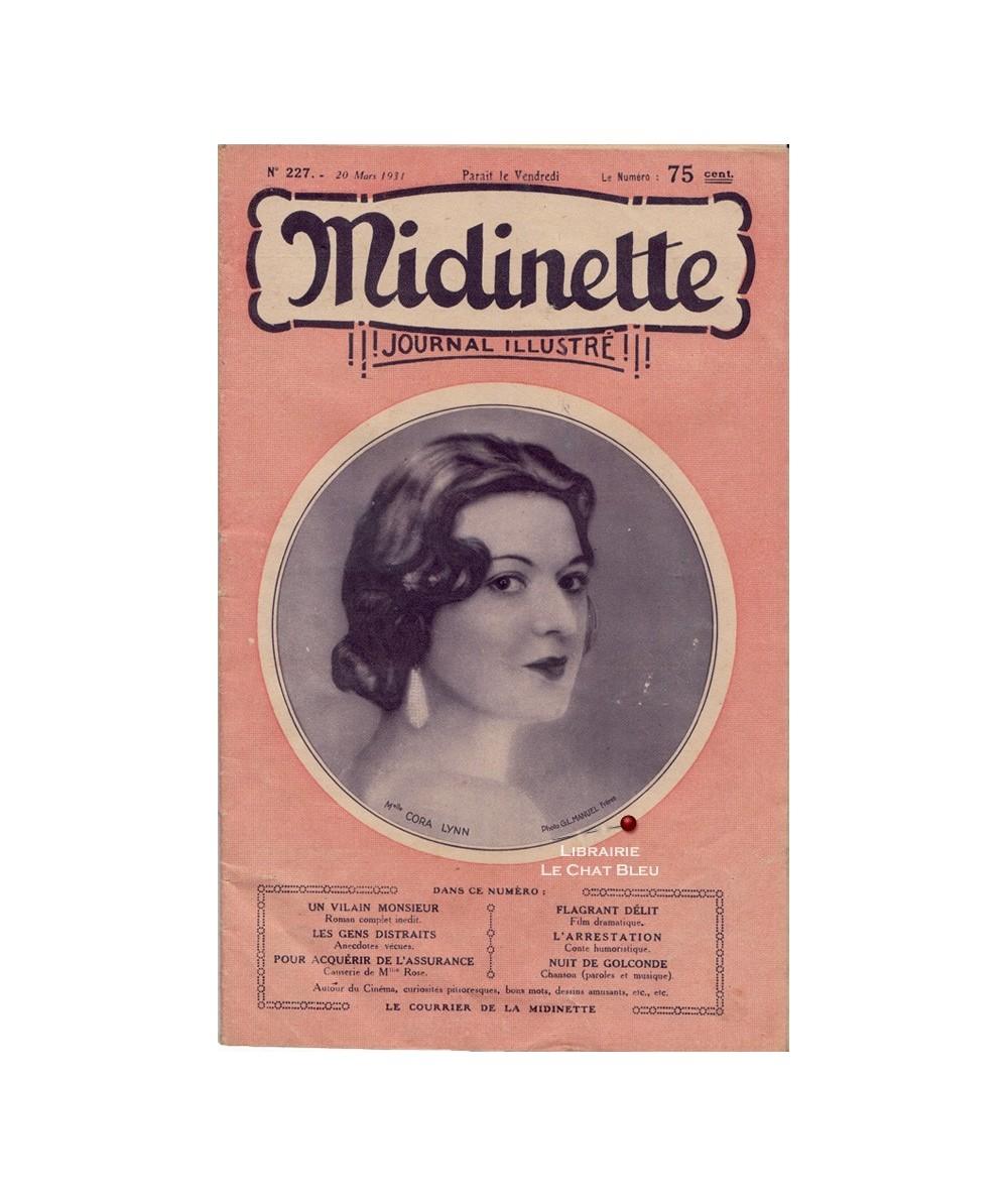 Midinette n° 227 du 20 mars 1931 - Melle Cora Lynn en couverture