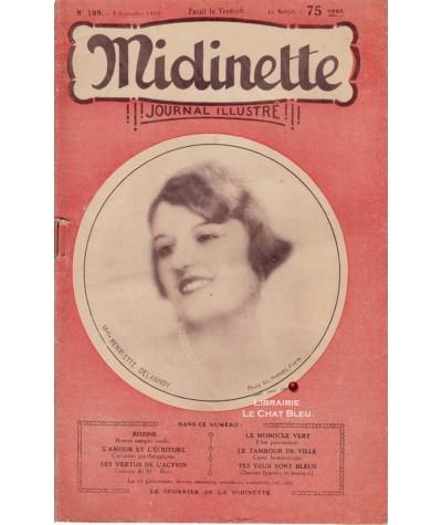 Journal illustré Midinette n° 199 du 5 septembre 1930 - Melle Henriette Delannoy en couverture
