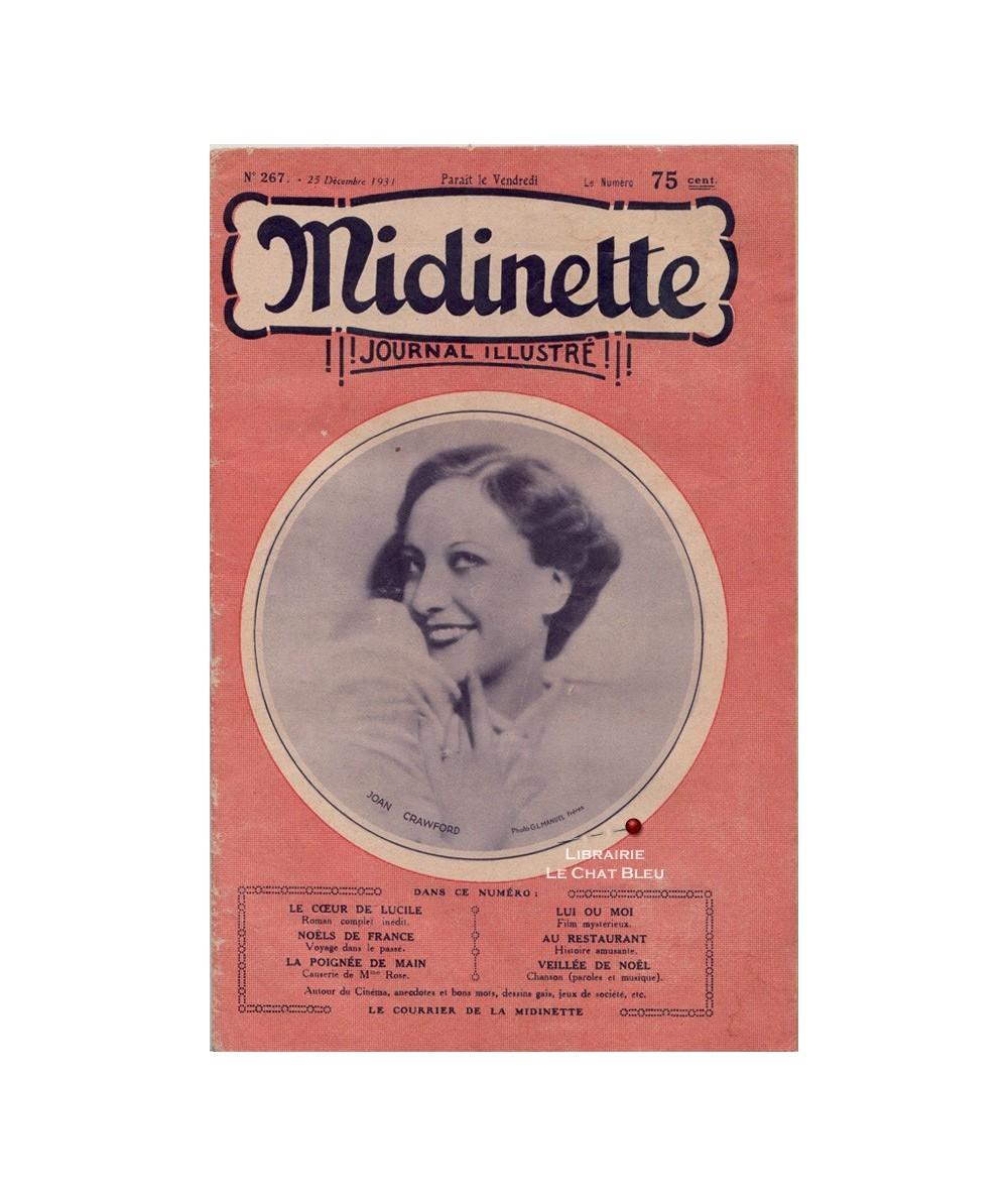 Midinette n° 267 du 25 décembre 1931 - Joan Crawford en couverture