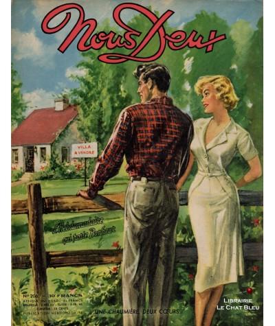 L'hebdomadaire Nous Deux n° 206 - Année 1951 : Une chaumière deux coeurs…