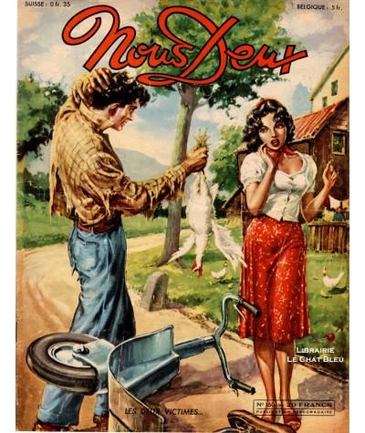 L'hebdomadaire Nous Deux n° 160 - Année 1950 - Les deux victimes…