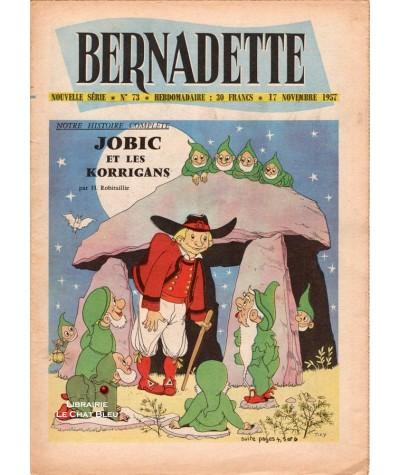 Revue Bernadette N° 73 du 17 novembre 1957 : Jobic et les Korrigans (Henriette Robitaillie)