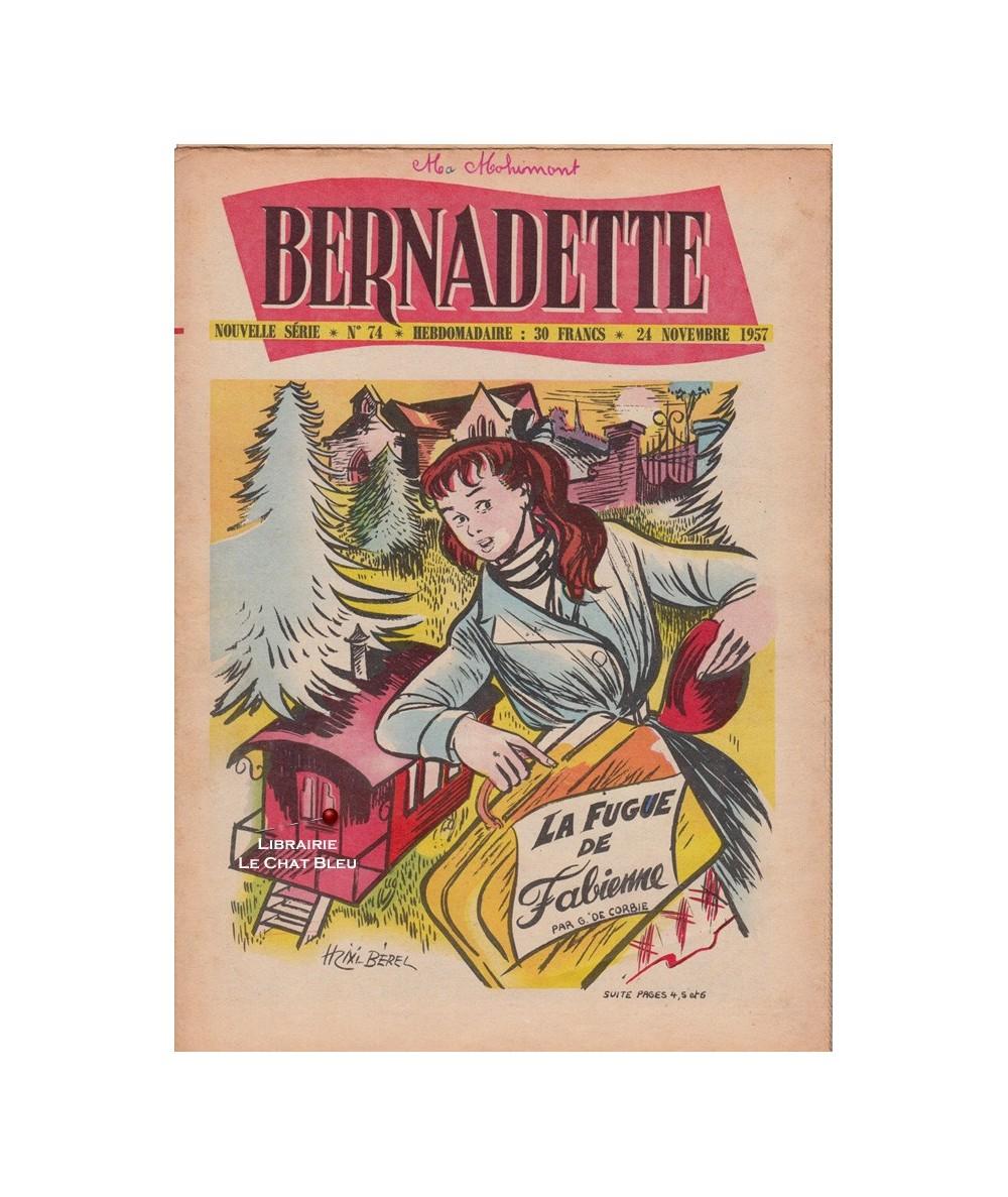 Bernadette N° 74 du 24 novembre 1957 : La fugue de Fabienne (G. de Corbie)