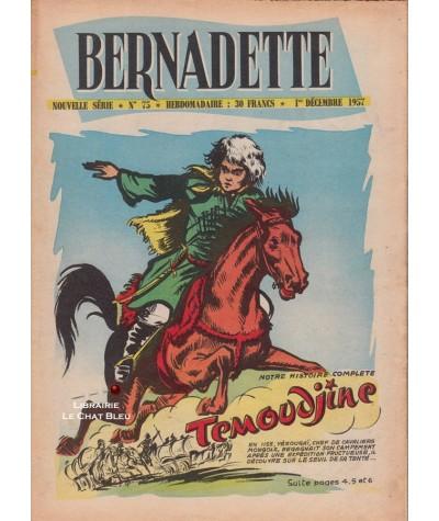 Revue Bernadette N° 75 du 1er décembre 1957 : Témoudjine