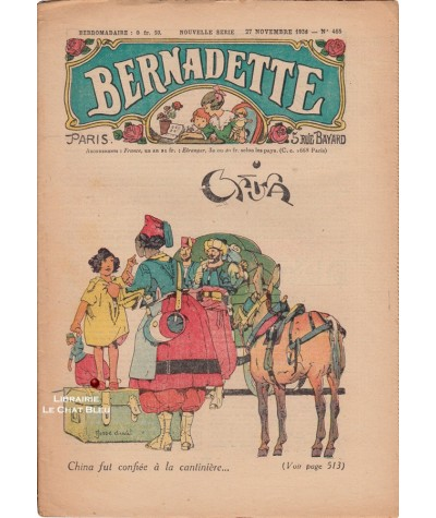Revue Bernadette N° 465 du 27 novembre 1938 : China