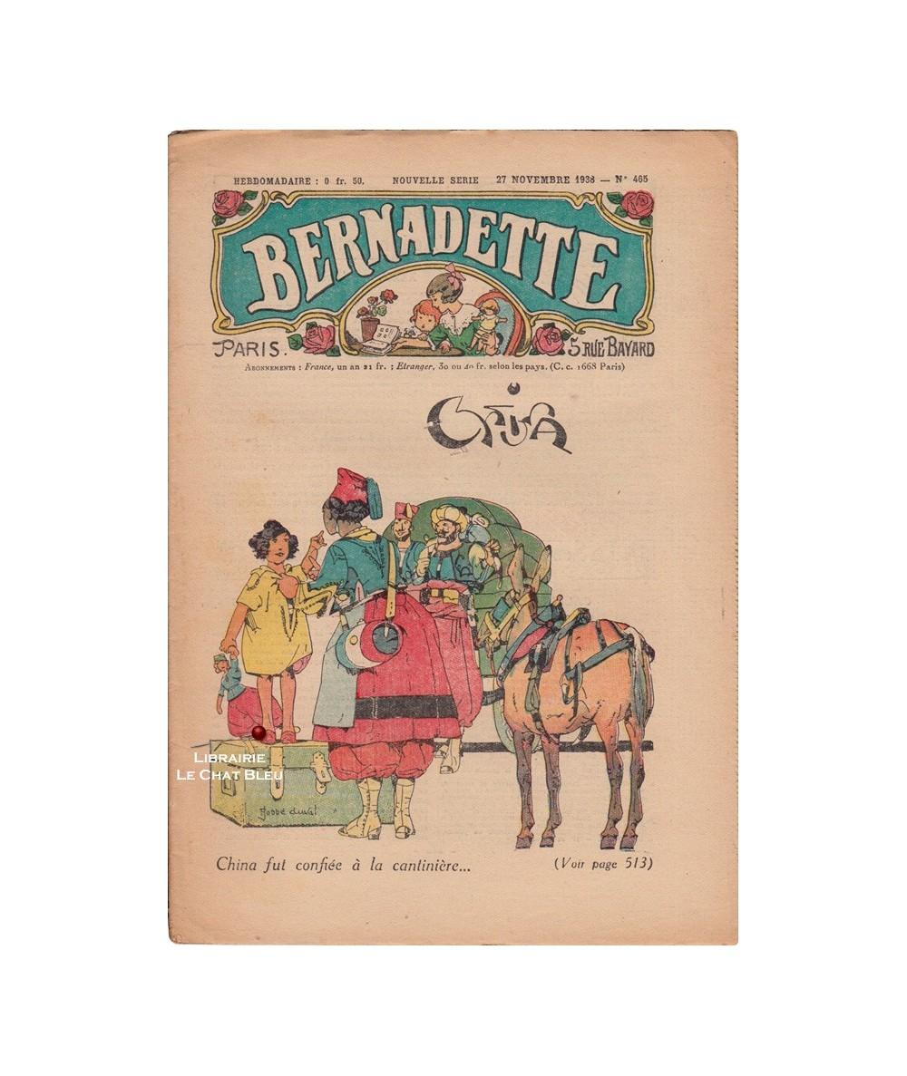 Bernadette N° 465 du 27 novembre 1938 : China