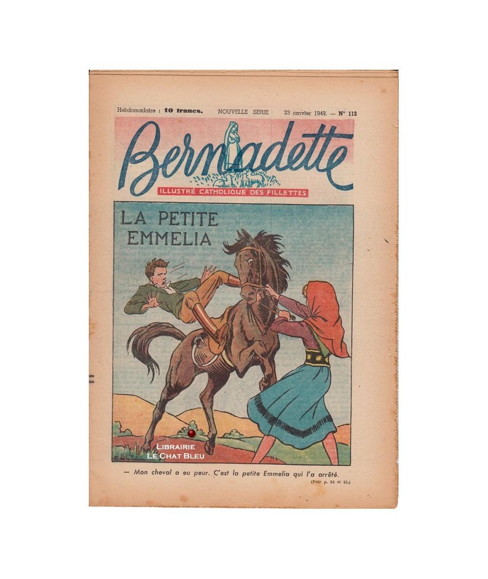 Bernadette N° 112 du 23 janvier 1949 : La petite Emmelia (Thérèse Dauchy)