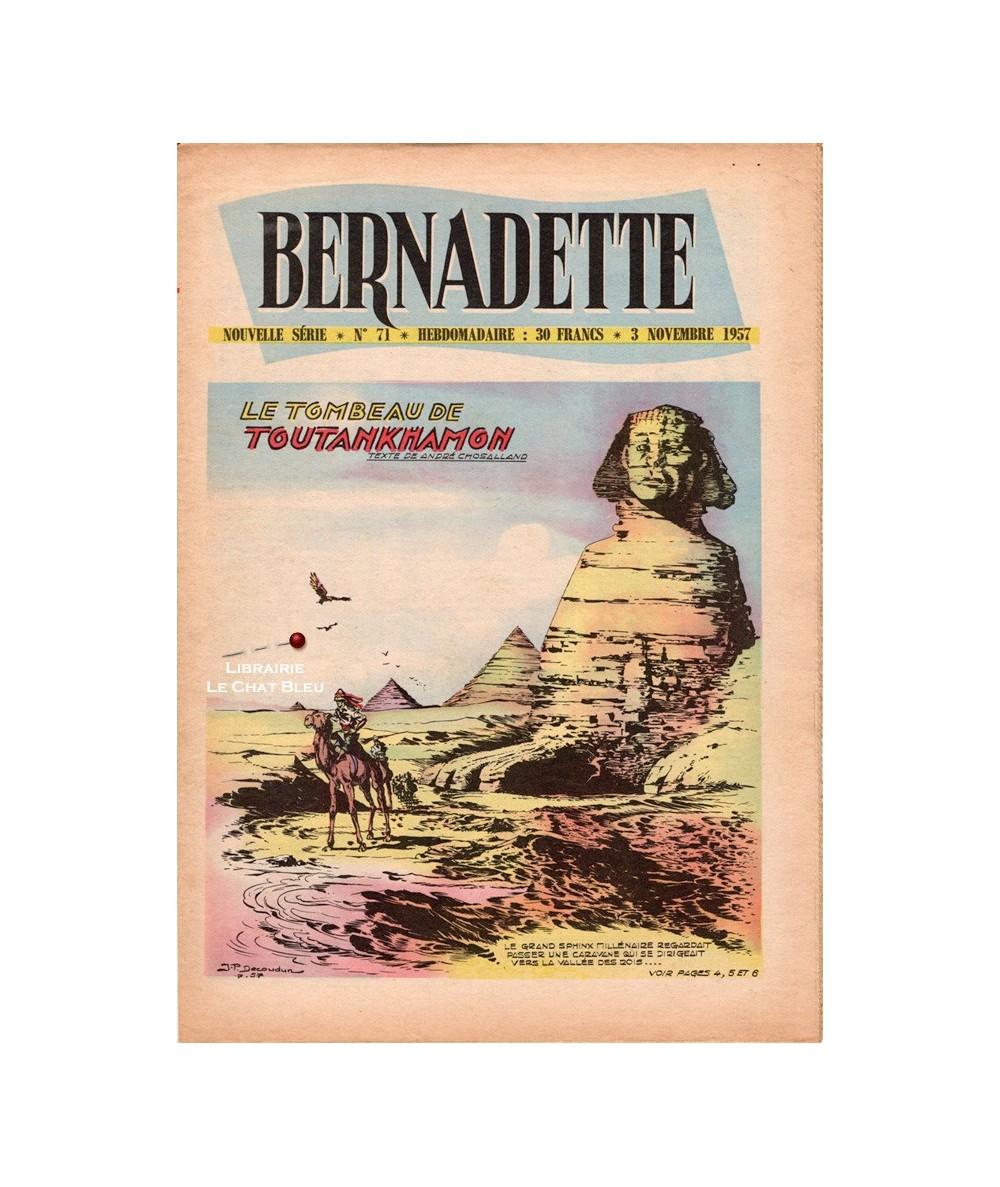 Bernadette N° 71 du 3 novembre 1957 : Le tombeau de Toutankhamon
