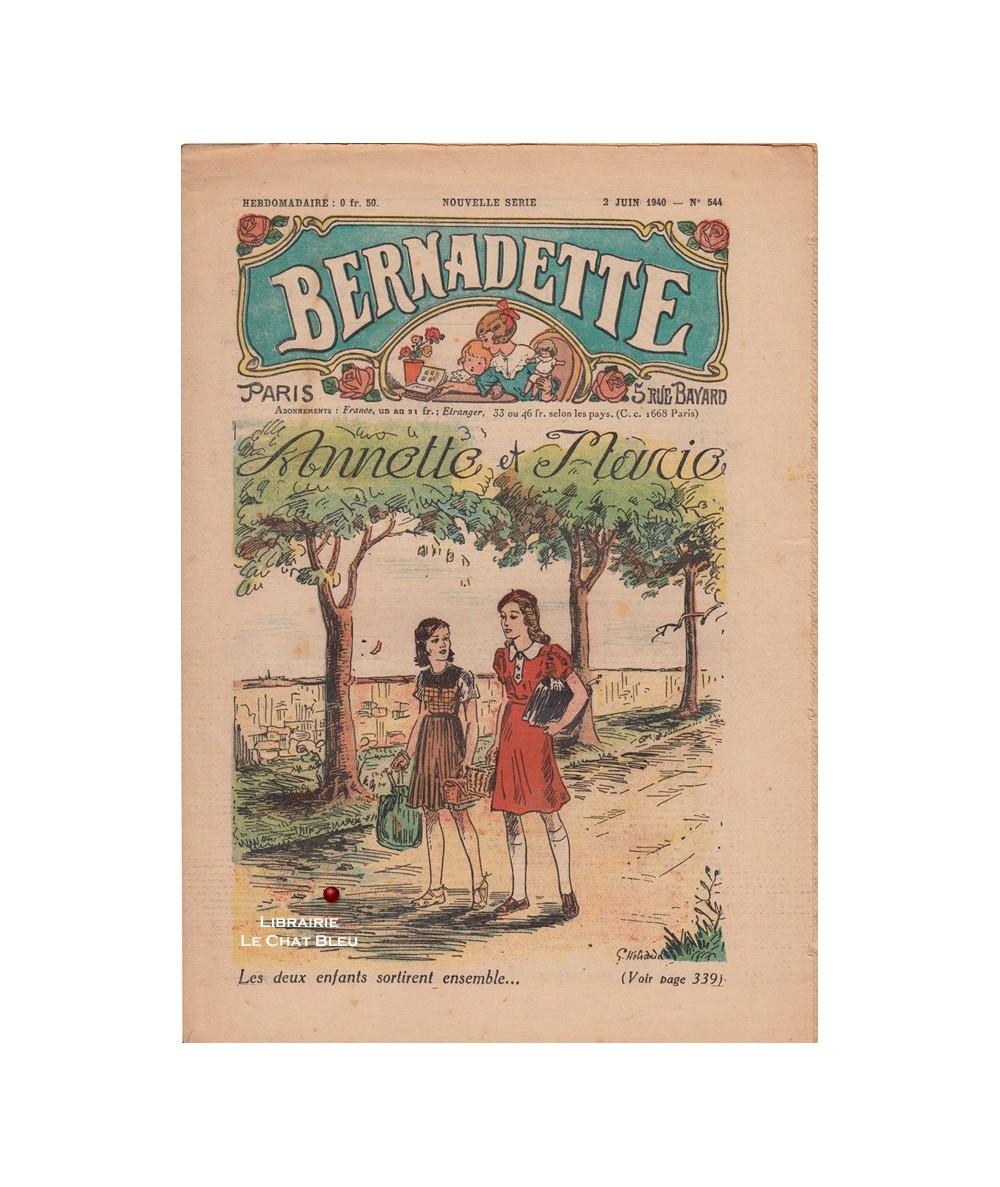 Bernadette N° 544 du 2 juin 1940 : Annette et Marie