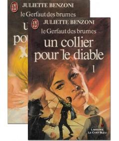 Un collier pour le diable (Juliette Benzoni) - Le Gerfaut des brumes - J'ai lu N° 1186 et 1187