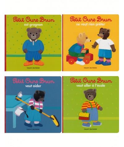 Lot de 4 livres : Petit Ours Brun (Marie Aubinais, Danièle Bour)