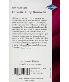 La vraie Lucy Donovan (Tina Wainscott) - Harlequin Désirs N° 132