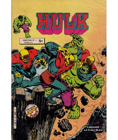 HULK (1re série) N° 21 - Collection Flash - Aredit