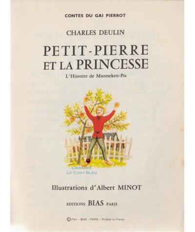 Petit Pierre Et La Princesse Charles Deulin Contes Du Gai Pierrot N 53 Livre Editions Bias