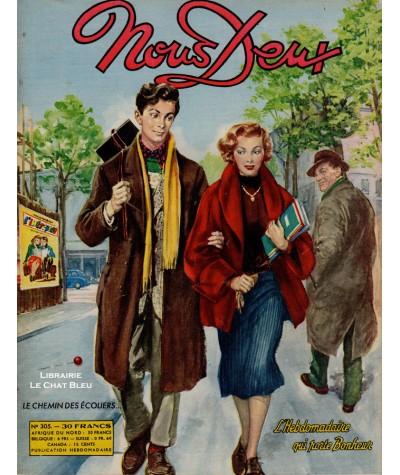 L'hebdomadaire Nous Deux n° 305 paru en 1953 : Le chemin des écoliers…