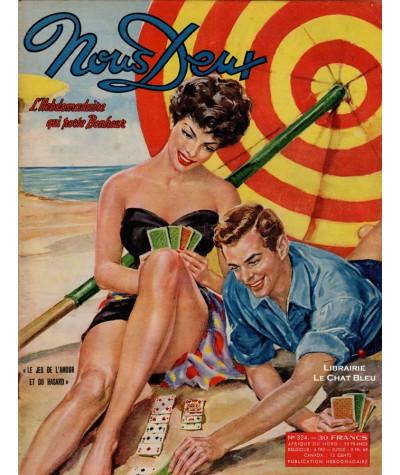 L'hebdomadaire Nous Deux n° 324 paru en 1953 : Le jeu de l'amour et du hasard