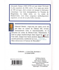 Le comte de Monte-Cristo T2 (Alexandre Dumas) - Livre Club Jeunesse