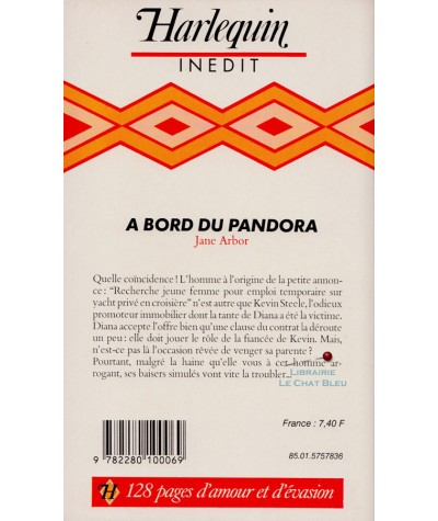 A bord du Pandora (Jane Arbor) - Harlequin N° ES25