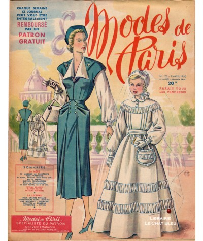 Journal Modes de Paris N° 173 du 7 avril 1950