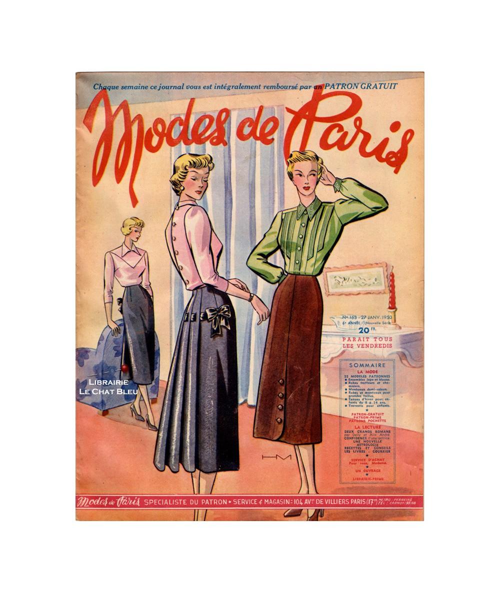 Journal Modes de Paris N° 163 du 27 janvier 1950