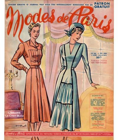 Journal Modes de Paris N° 166 du 17 février 1950