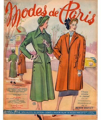 Journal Modes de Paris N° 165 du 10 février 1950