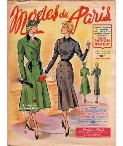 Journal Modes de Paris N° 206 du 24 novembre 1950