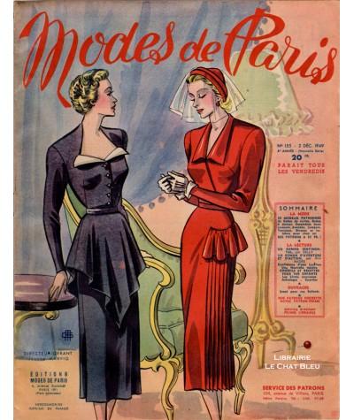Journal Modes de Paris N° 155 du 2 décembre 1949
