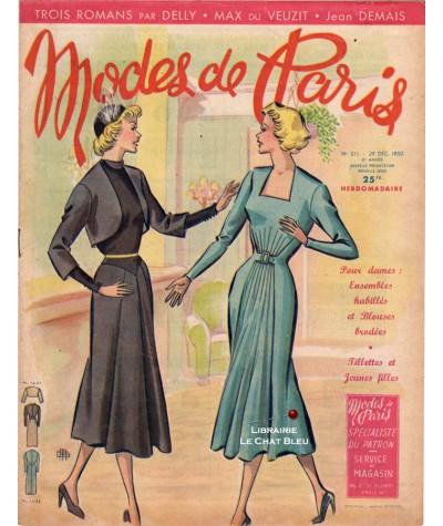 Journal Modes de Paris N° 211 du 29 décembre 1950 - Supplément de 8 pages