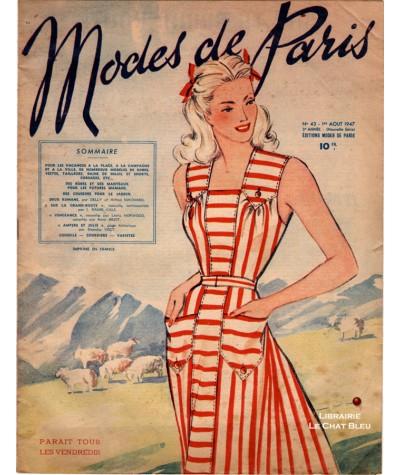 Journal Modes de Paris N° 43 du 1er août 1947