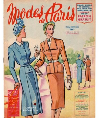 Journal Modes de Paris N° 193 du 25 août 1950