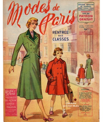 Journal Modes de Paris N° 194 du 1er septembre 1950