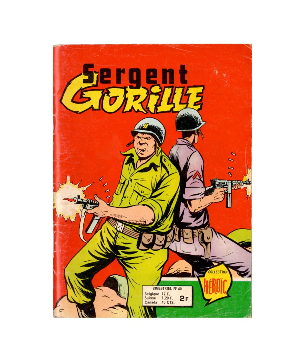 Sergent GORILLE N° 60 : Le fromage et le Capitaine - BD petit format