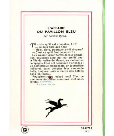 Une enquête des soeurs Parker : L'affaire du pavillon bleu (Caroline Quine)