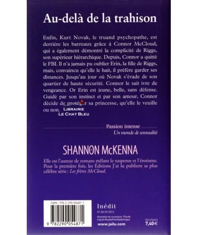 Les frères McCloud T2 : Au-delà de la trahison (Shannon McKenna) - J'ai lu N° 10025
