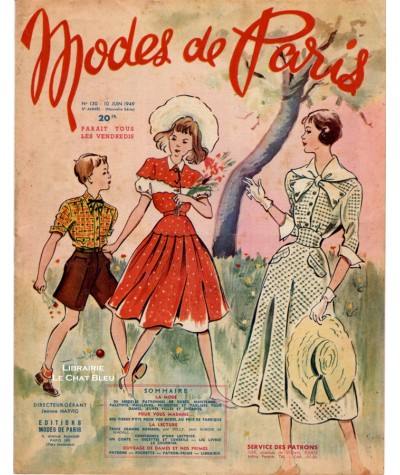 Journal Modes de Paris N° 130 du 10 juin 1949