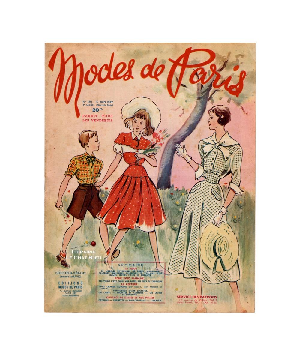 Journal Modes de Paris N° 130 du 10 juin 1949
