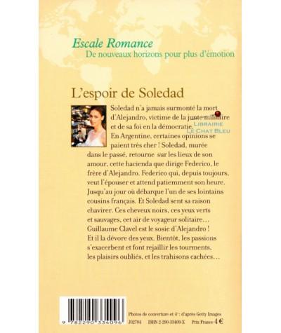 L'espoir de Soledad (Michel Albertini) - J'ai lu Escale Romance N° 6202 - Résumé