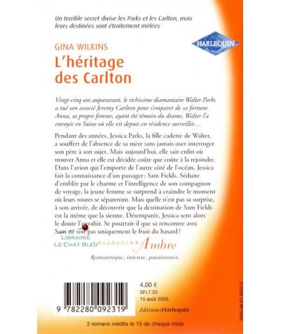 L'empire des Parks T6 : L'héritage des Carlton (Gina Wilkins) - Harlequin Ambre N° 18
