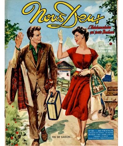 Magazine Nous Deux n° 381 paru en 1954 : Fin de saison