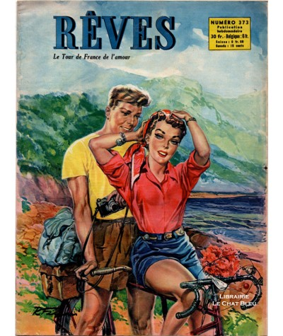 Magazine Rêves n° 373 paru en 1953 : Le Tour de France de l'amour