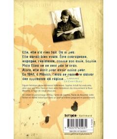 Mon amie, Sophie Scholl (Paule du Bouchet) - Scripto - Gallimard Jeunesse