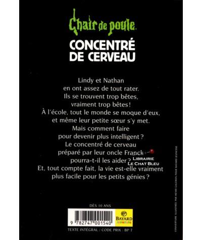 Chair de poule T63 : Concentré de cerveau (R.L. Stine) - Bayard Jeunesse