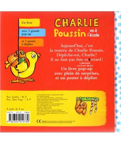 Charlie Poussin va à l'école - Un livre POP-UP - GRÜND Jeunesse