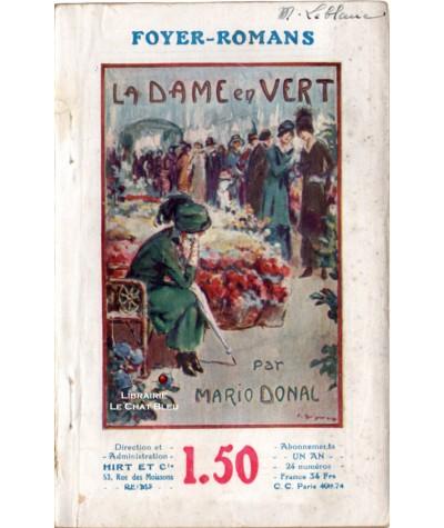 La Dame en Vert (Mario Donal) - FOYER-ROMANS N° 67